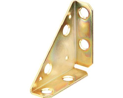 Plaque d'angle 50x50x70mm, galvanisé jaune, 1 unité