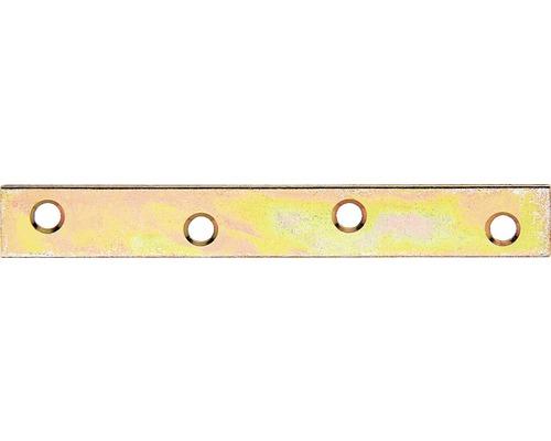 Raccord plat 120x17,5mm, jaune en acier galvanisé, 1 unité