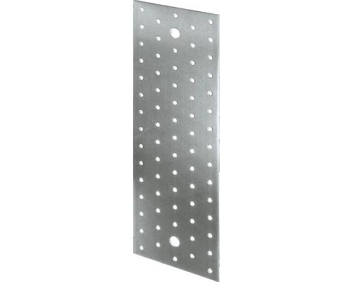 Plaque perforée 300x100mm, galvanisée sendzimir, 1 unité