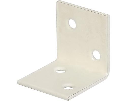 Angle large 30x30x30mm, blanc avec un revêtement en plastique, 1 unité