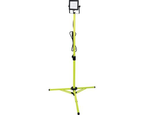 Projecteur de chantier sur trépied LED IP65 20W 1600 lm 5000 K blanc neutre trépied ajustable 850-1200 mm