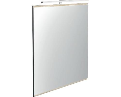 LED Badspiegel Miami Vice anthrazit 60 x 70 cm