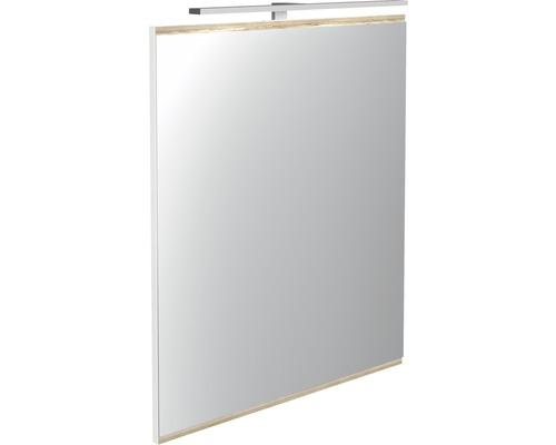 Mirroir de salle de bains LED Miami Vice blanc 60 x 70 cm