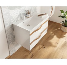 Waschtischunterschrank Agitar weiß 69 x 50,5 x 39,5 cm ohne Waschtisch-thumb-3