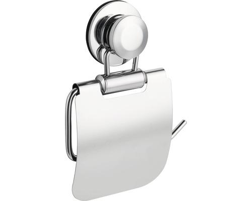 Dérouleur papier toilette chromé, fixation par ventouses
