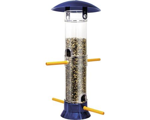 Mangeoire colonne pour oiseaux HOBBY 38 cm bleu