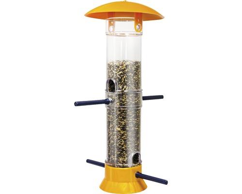 Mangeoire colonne pour oiseaux HOBBY 38 cm jaune