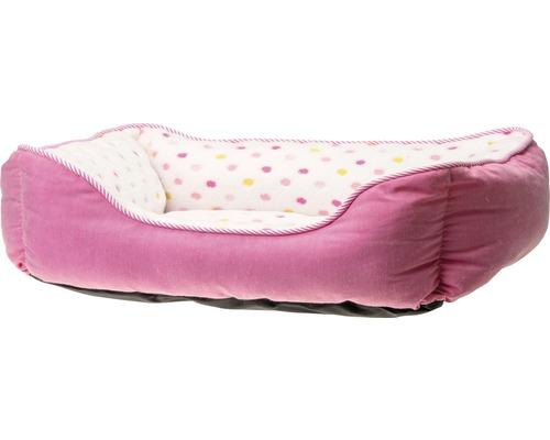 Lit pour chien Karlie Dots 65 x 60 cm rose