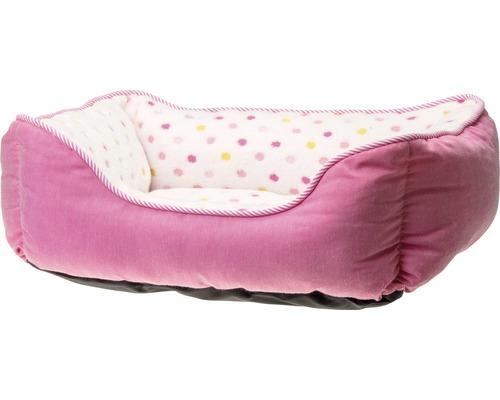 Lit pour chien Karlie Dots 55 x 50 cm rose