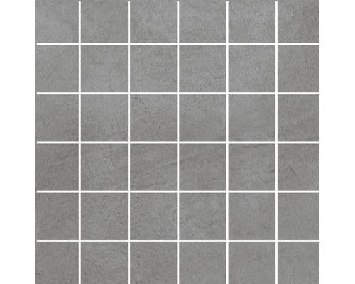Mosaïque en grès cérame fin Cementine gris 30 x 30cm R10B
