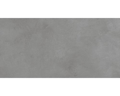Carrelage pour sol et mur en grès cérame fin 30 x 60 cm Cementine gris R10B