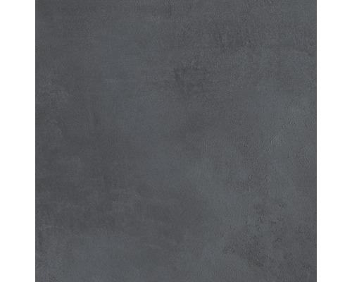 Carrelage pour sol et mur en grès cérame fin 30 x 30 cm Cementine anthracite R10B