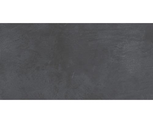Carrelage pour sol et mur en grès cérame fin 30 x 60 cm Cementine anthracite R10B