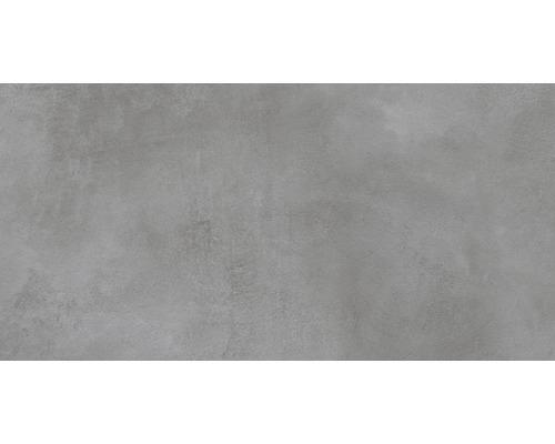 Carrelage sol et mur en grès cérame fin 30 x 60 cm Cementine gris Lapatto