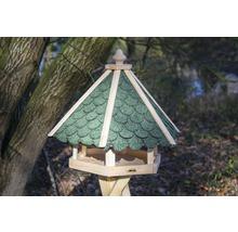 Abri-mangeoire pour oiseaux avec bardeaux bitumés verts 51x45x41 cm-thumb-1