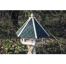 Abri-mangeoire pour oiseaux avec bardeaux bitumés verts 51x45x41 cm-thumb-2