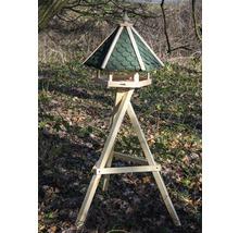 Abri-mangeoire pour oiseaux avec bardeaux bitumés verts 51x45x41 cm-thumb-3