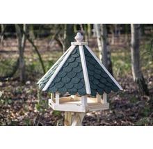 Abri-mangeoire pour oiseaux avec bardeaux bitumés verts 51x45x41 cm-thumb-4