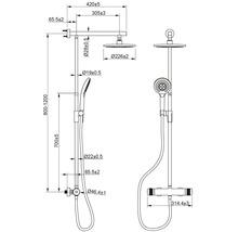 Colonne de douche avec thermostat AVITAL Topino noir mat-thumb-7