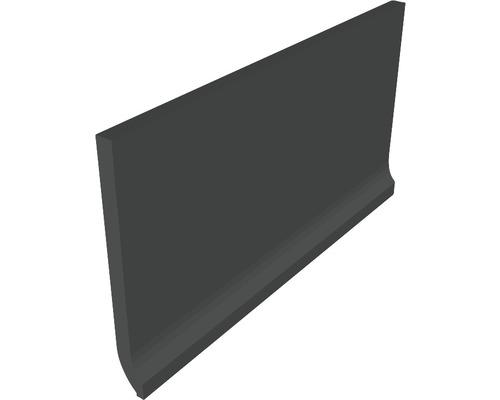 Plinthe à gorge fine Matrix noir 10 x 20 cm