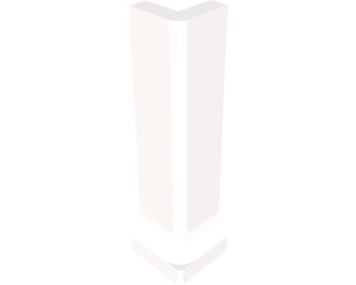 Angle extérieur pour plinthe à gorge fine blanc 3 x 10 cm