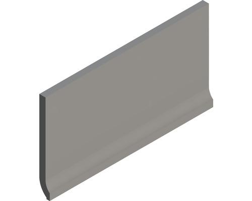 Plinthe à gorge fine Matrix gris 10 x 20 cm