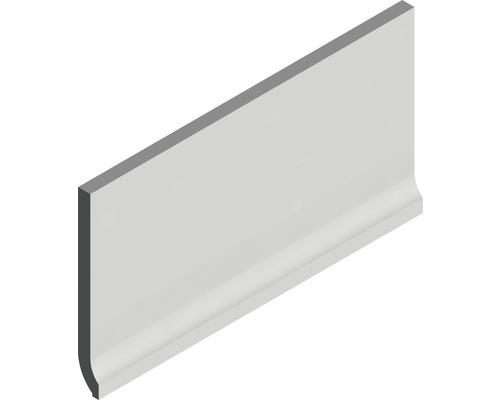 Plinthe à gorge fine Matrix gris argent 10 x 20 cm