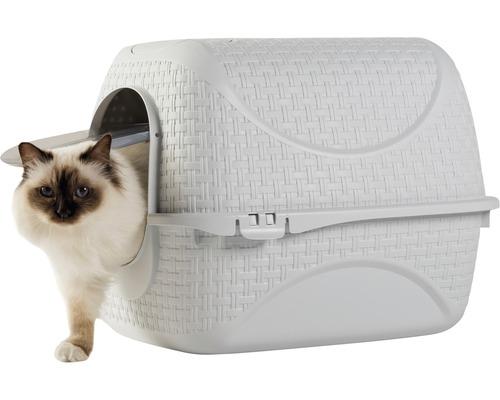 Bac à litière pour chats bama pet Prive Ice 41,8 x 50,5 x 39,6 cm blanc