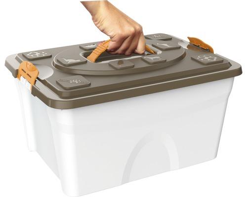Boîte de rangement bama pet Sim 48 x 27 x 42 cm crème