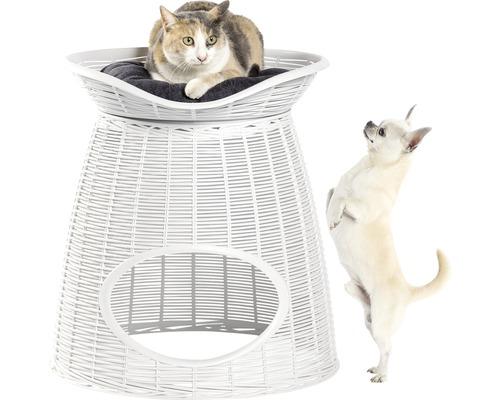Cabane à chat bama pet Pasha Ice 52 x 55 x 50 cm blanc