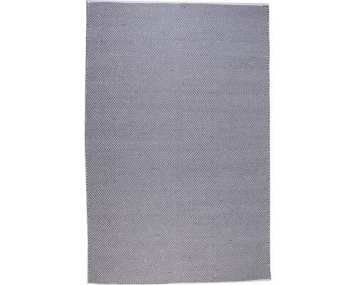 Tapis de chiffon Dakota gris-bleu 160x230 cm