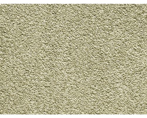 Moquette velours frisé Romantica vert clair largeur 400 cm (au mètre)