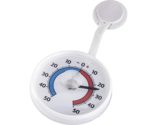 Thermomètre de fenêtre rond analogique