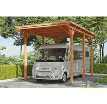 Carport pour un véhicule Skanholz Emsland 404 x 604 cm, chêne clair-thumb-0