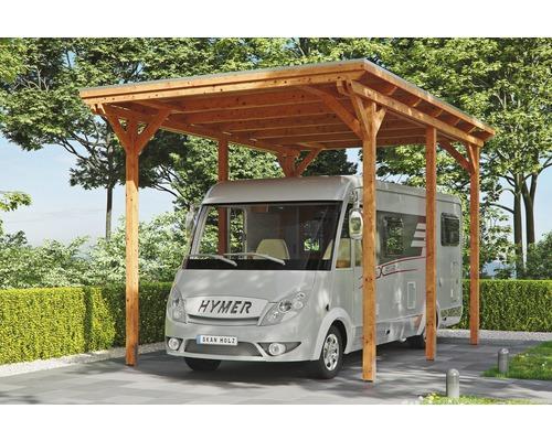 Carport pour un véhicule Skanholz Emsland 404 x 604 cm, chêne clair-0