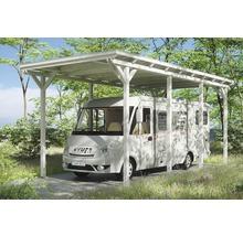 Carport pour un véhicule Skanholz Emsland 404 x 846 cm, blanc-thumb-0