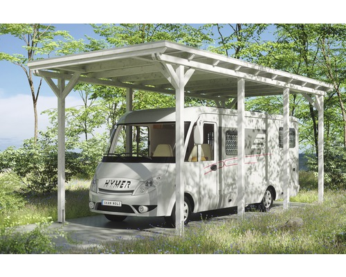 Carport pour un véhicule Skanholz Emsland 404 x 846 cm, blanc-0
