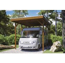 Carport pour un véhicule Skanholz Friesland 397 x 555 cm, noyer-thumb-0