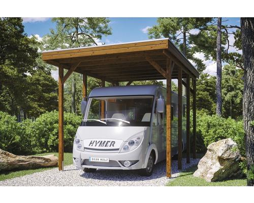 Carport pour un véhicule Skanholz Friesland 397 x 555 cm, noyer-0