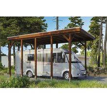 Carport pour un véhicule Skanholz Friesland 397 x 708 cm, noyer-thumb-0