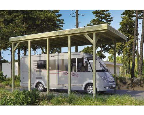 Carport pour un véhicule Skanholz Friesland 397 x 708 cm, imprégné par immersion-0
