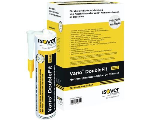 Matériau d''étanchéité ISOVER Vario DoubleFit masse adhésive pâteuse pour intérieur et extérieur 310 ml pack = 6 pces.