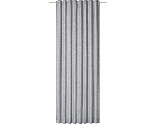 Rideau avec galets fronceurs Vienna 07 gris 140x255 cm