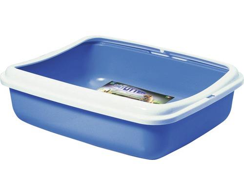 Bac à litière pour chat Big avec rebord 50 x 40 x 14,5 cm, choix de couleurs aléatoire