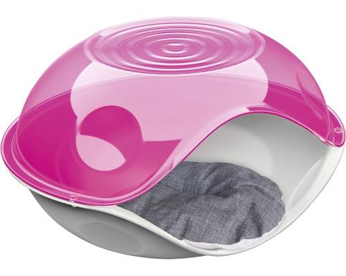 Abri pour chat Duck Pillow avec coussin 57 x 48 x 32 cm transparent, choix de couleurs aléatoire