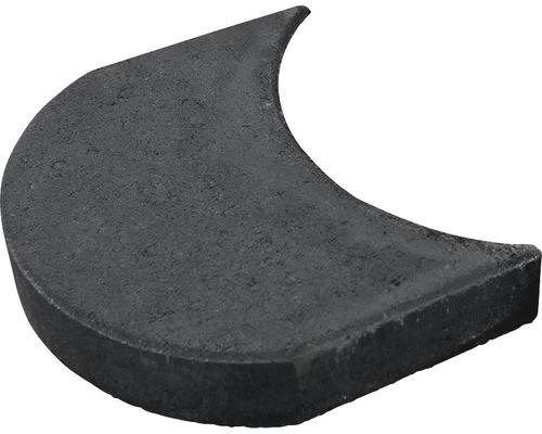 Bordure en pierre pour tondeuse robot anthracite 24 x 15 x 4 cm (disponible par 25)