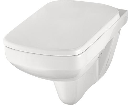 Kit WC suspendu sans bride de rinçage Vanea blanc avec abattant WC
