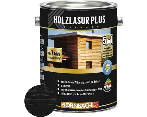 Lasure pour bois Plus RAL 7016 anthracite 2,5 l
