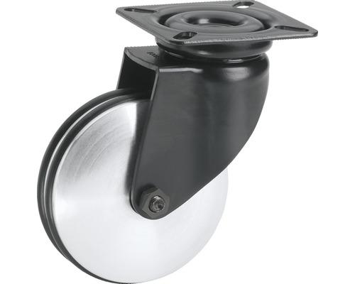Roulette pivotante design, jusqu''à 60kg, avec plaque, 75x101x26mm