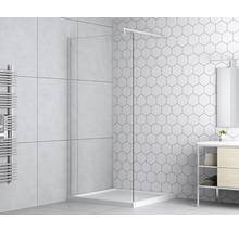 Paroi latérale pour douche à l''italienne basano Modena 800 verre véritable transparent clair aspect chrome-thumb-0